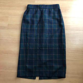 ジーユー(GU)のジーユーチェックスカート(ひざ丈スカート)