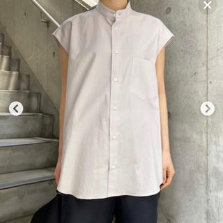 コモリ(COMOLI)のオーラリーWASHED FINX TWILL SLEEVELESS SHIRTS(シャツ/ブラウス(半袖/袖なし))