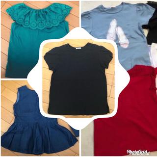 ジーユー(GU)のジーユー トップス 5枚セット 140(Tシャツ/カットソー)