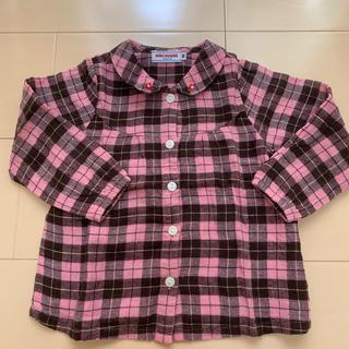 ミキハウス(mikihouse)のミキハウス ブラウス 90 長袖 ピンク シャツ(ブラウス)