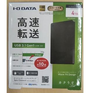 アイオーデータ(IODATA)のアイ・オー・データ ポータブルHDD 4TB HDPH-UT4DKR 未開封(PC周辺機器)
