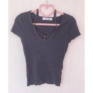 ピンキーアンドダイアン(Pinky&Dianne)のリブ Tシャツ トップス pinky&dianne(Tシャツ(半袖/袖なし))