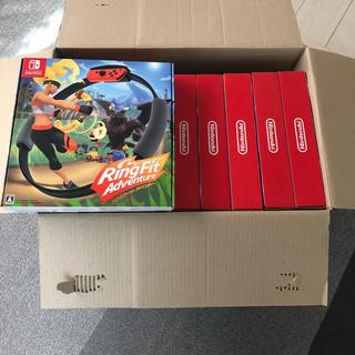 ニンテンドースイッチ(Nintendo Switch)の新品リングフィット アドベンチャーかパッケージ版16台 (専用)(家庭用ゲームソフト)