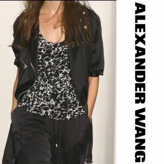 アレキサンダーワン(Alexander Wang)のAlexander wang シルク  トップス  大理石柄(Tシャツ(半袖/袖なし))