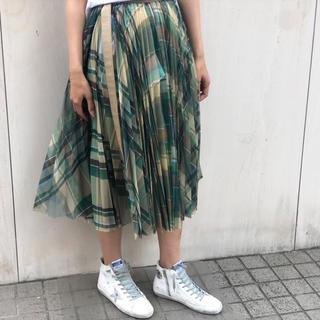 サカイ(sacai)のCheck Organza Wrap Skirt(ロングスカート)