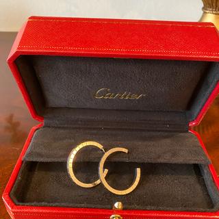 カルティエ(Cartier)の【Cartier】カルティエ K18WG ホワイトゴールドラニエール ピアス(ピアス)