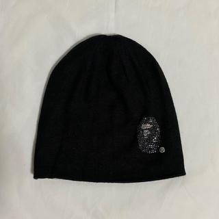 アベイシングエイプ(A BATHING APE)のBAPE Swarovski Ape Head Knit Cap ラインストーン(ニット帽/ビーニー)