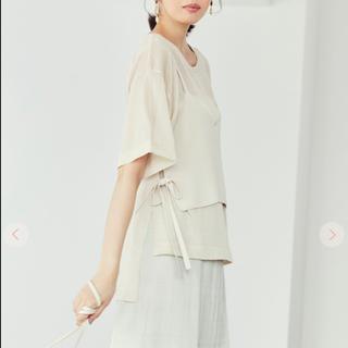 ココディール(COCO DEAL)のCOCO DEAL  シアーニットT×ビスチェセット ホワイト エクリュ シアー(Tシャツ(半袖/袖なし))