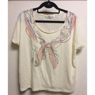 ミスティウーマン(mysty woman)の【mysty woman】スカーフ柄デザインTシャツ(Tシャツ(半袖/袖なし))