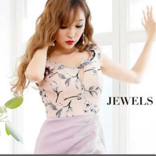 ジュエルズ(JEWELS)の新品 jewels花柄キャバドレス(ミニドレス)
