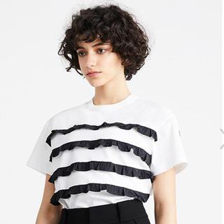 バーニーズニューヨーク(BARNEYS NEW YORK)の定価以下!ボーダーズアットバルコニー 36フリルTシャツ 新品未使用(Tシャツ(半袖/袖なし))