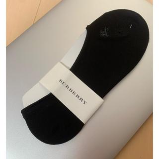 バーバリー(BURBERRY)のバーバリー フットカバー メンズ ソックス 黒 ホースマーク刺繍(その他)