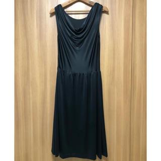 ジーヴィジーヴィ(G.V.G.V.)の定価5.4万 シルク日本製 ブラックドレス Furnishing 2WAY(ロングワンピース/マキシワンピース)