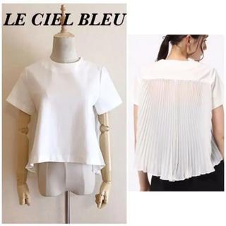 ルシェルブルー(LE CIEL BLEU)のLE CIEL BLEU バックシースループリーツ プルオーバートップス(シャツ/ブラウス(半袖/袖なし))