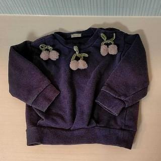 プティマイン(petit main)のプティマイン さくらんぼトレーナー 90 秋冬トップス petit main(Tシャツ/カットソー)
