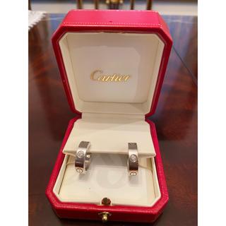 カルティエ(Cartier)のカルティエ ラブピアス ハーフダイヤ(ピアス)