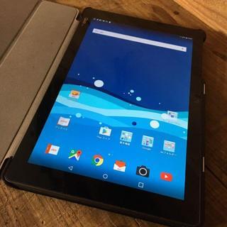 エルジーエレクトロニクス(LG Electronics)の送料込み LG QUA TAB PZ ネイビー(タブレット)