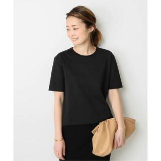 ドゥーズィエムクラス(DEUXIEME CLASSE)のDeuxieme Classe neat Tシャツ ブラック 新品タグ付き(Tシャツ(半袖/袖なし))