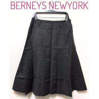 バーニーズニューヨーク(BARNEYS NEW YORK)のBERNEYS NEW YORK【美品】Aライン ひざ丈 フレア スカート(ひざ丈スカート)
