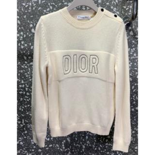ディオール(Dior)のDIOR ロゴ カシミア×ウール ニット セーター(ニット/セーター)