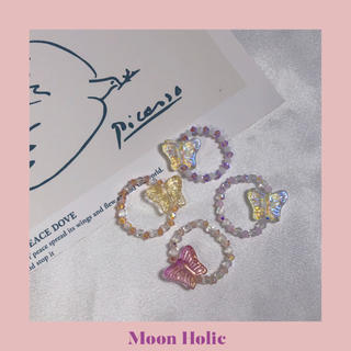 candy butterfly ring*purple white(リング(指輪))
