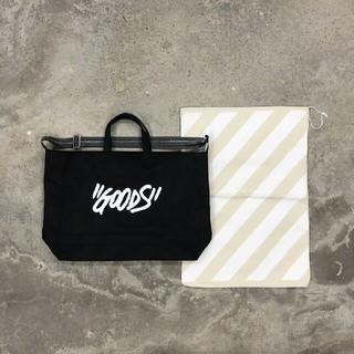 """オフホワイト(OFF-WHITE)のOff-White 20ss """"Goods"""" Quote tote bag(トートバッグ)"""