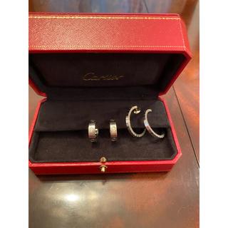 カルティエ(Cartier)のカルティエ ラブピアス ハーフダイヤ&カルティエ K18WG ラニエール ピアス(ピアス)