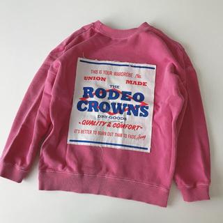 ロデオクラウンズワイドボウル(RODEO CROWNS WIDE BOWL)のRCWB ロデオクラウンズ トレーナー スウェット キッズL 120㎝(Tシャツ/カットソー)