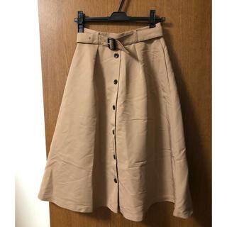 エニィスィス(anySiS)のボタン付きフレアスカート(ロングスカート)
