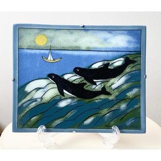 アラビア(ARABIA)のBig Moon アラビア ヘルヤ 陶板画(置物)