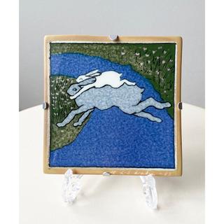 アラビア(ARABIA)の青い川を越えて 1984年 アラビア ヘルヤ 陶板画(置物)