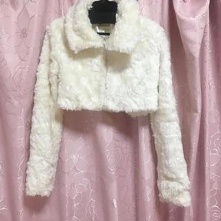 リズリサ(LIZ LISA)のLiz Lisa*リズリサ*ファージャケット*白(毛皮/ファーコート)