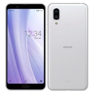 アクオス(AQUOS)のAQUOS sense3 plus ホワイト 新品 本体(スマートフォン本体)