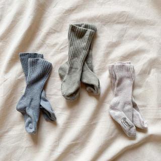 ボンポワン(Bonpoint)のbonpoint くすみカラー靴下 3足セット(靴下/タイツ)
