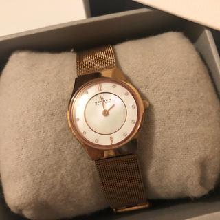 スカーゲン(SKAGEN)の【スカーゲン】レディース腕時計 ゴールド 電池切れ(腕時計)