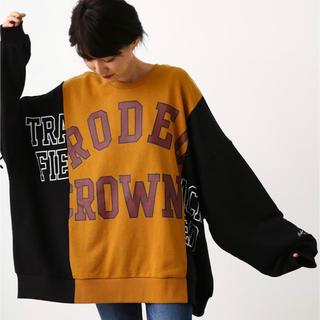 ロデオクラウンズワイドボウル(RODEO CROWNS WIDE BOWL)の❤新品未使用RODEO CROWNS  OL リメイクビックスウェット❤(トレーナー/スウェット)