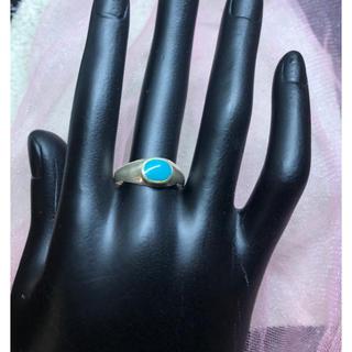 SILVER925ターコイズ甲丸 指輪 リング ユニセックスシルバー925(リング(指輪))