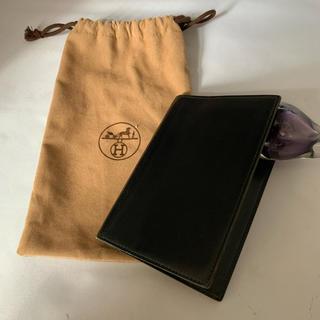 エルメス(Hermes)のHERMES 手帳カバー 黒 ビンテージ 美品(手帳)