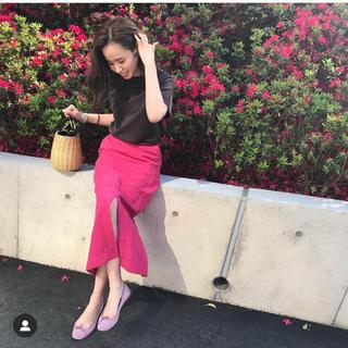 デミルクスビームス(Demi-Luxe BEAMS)のdemi-luxe beams ピンクタイトスカート(ロングスカート)