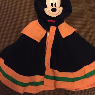 ディズニー(Disney)のハロウィンに☆ミッキーハロウィンフード付きポンチョ(カーディガン/ボレロ)