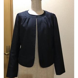 ニジュウサンク(23区)の23区 サマージャケット ノーカラージャケット ネイビー サイズ38(ノーカラージャケット)