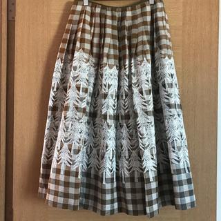 ミナペルホネン(mina perhonen)のミナペルホネン land theaterスカート(ひざ丈スカート)
