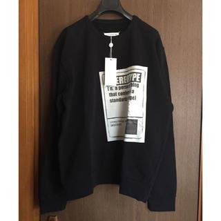 マルタンマルジェラ(Maison Martin Margiela)の黒54新品 メゾン マルジェラ ステレオタイプ スウェット シャツ ブラック(スウェット)