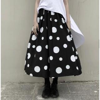コムデギャルソン(COMME des GARCONS)のドットスカート ブラック(ロングスカート)