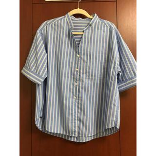 ジーユー(GU)のGU ストライプ  ブラウス(シャツ/ブラウス(半袖/袖なし))