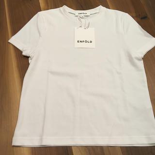 エンフォルド(ENFOLD)の新品 ENFOLD 38 リバーコンパクトTシャツ(Tシャツ(半袖/袖なし))