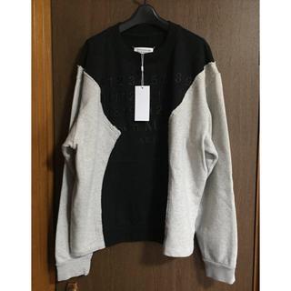 マルタンマルジェラ(Maison Martin Margiela)の黒48新品 メゾン マルジェラ 再構築 オーバーサイズ スウェット シャツ(スウェット)