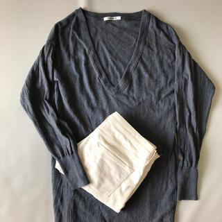 ムジルシリョウヒン(MUJI (無印良品))の無印良品 スキニー パンツ オフホワイト レディース ローライズ タイト スリム(スキニーパンツ)