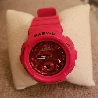 ベビージー(Baby-G)のカシオレディース BabyG BGA195M 赤レッド(腕時計)