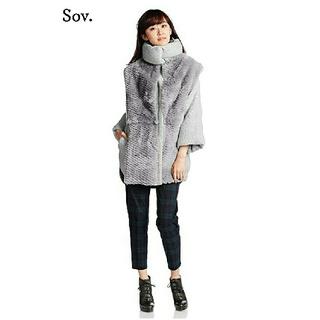 DOUBLE STANDARD CLOTHING - 【新品タグ付き】 ダブルスタンダードクロージング sov.ラビット×ニットコート